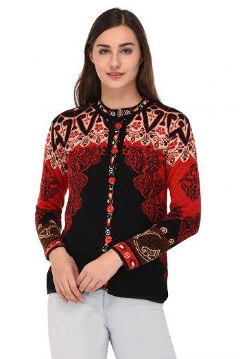 eWools Women's Multicolor Woolen Cardigan: eWools Sweater For Women