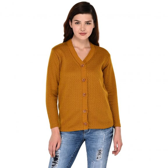 eWools Women's Wool V-Neck Cardigan: eWools Sweater For Women