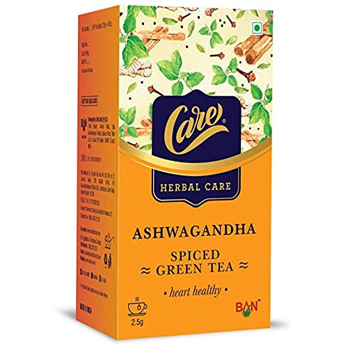 Care Ashwagandha Spiced Green Tea for Weight Loss & Build Immunity