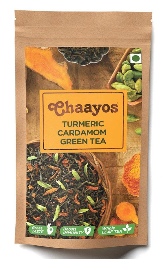 Chaayos Turmeric Cardamom Green Tea