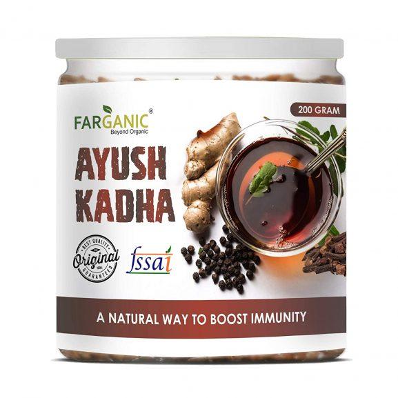 Farganic Ayush Kadha Mix/Kwath Powder for Immunity Booster