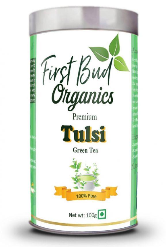 First Bud Organics Tulsi Green Tea