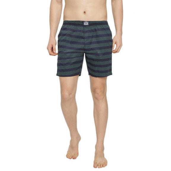 Levi's Men's Soft Cotton 300LS Printed Boxer Shorts with Button Fly and Pockets