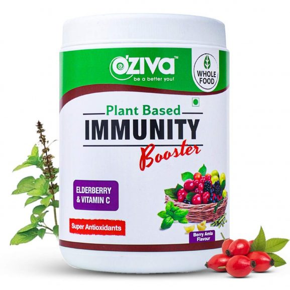 OZiva Plant Vitamin C With Giloy, Amla, Tulsi, Elderberry - Immunity Booster