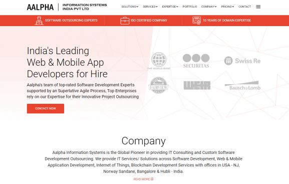 Aalpha Information Systems - 10 best web development companies in bangalore