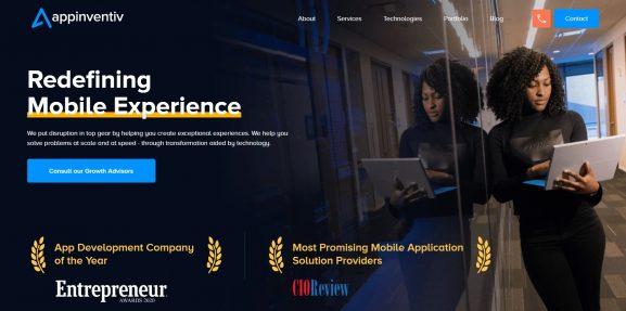 Appinventiv - top 10 app devopment companies in india