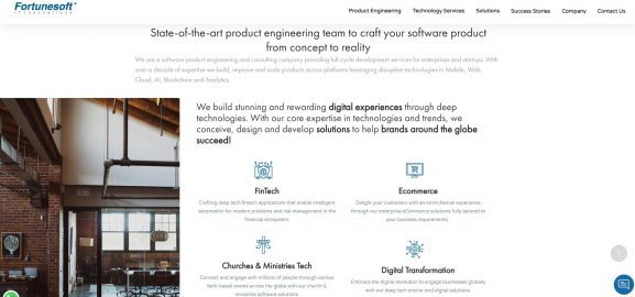 Fortunesoft IT Innovations - 10 best web development companies in bangalore