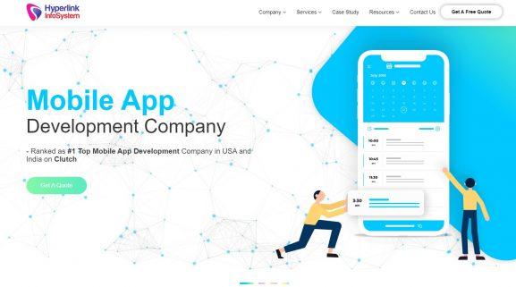 Hyperlink Infosystem - best companies for app development in india
