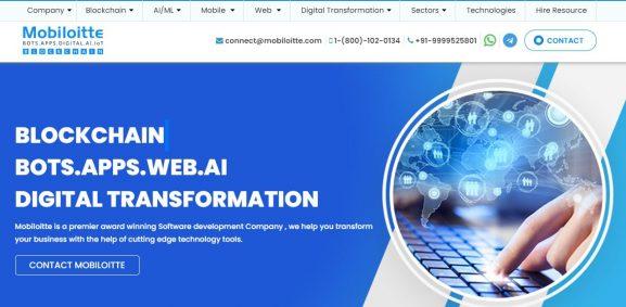 Mobiloitte Inc - 10 best web development companies in delhi