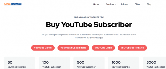 SocialPackages - buy youtube subscribers