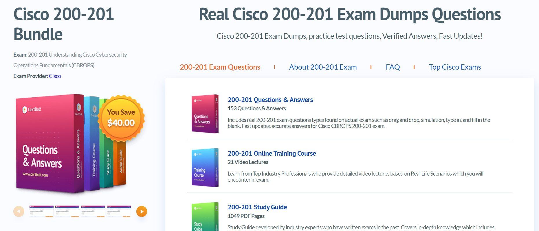 Explore Certbolt Cisco 200-201 CBROPS Exam Topics
